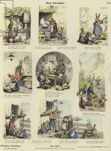 From the Easter Bunny (coloured engraving)