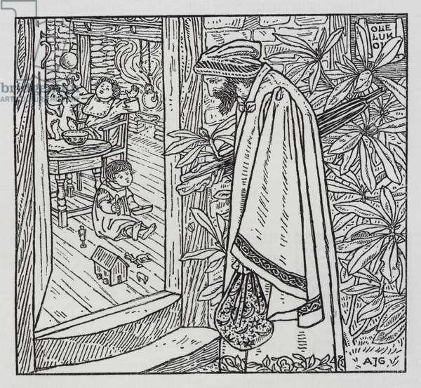 Hans Christian Andersen: Ole Luk-Oie (litho)