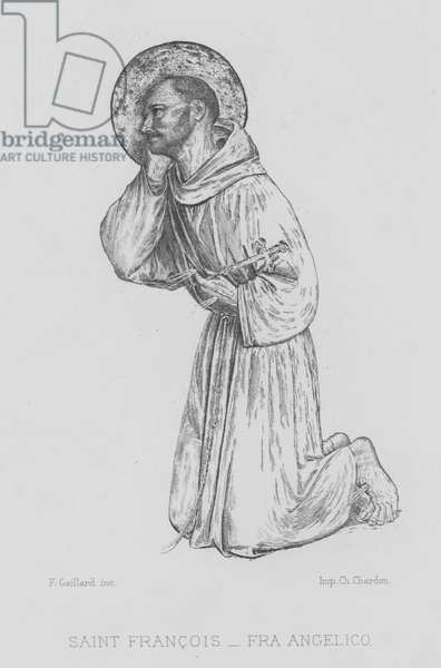 St Francis of Assisi (litho)