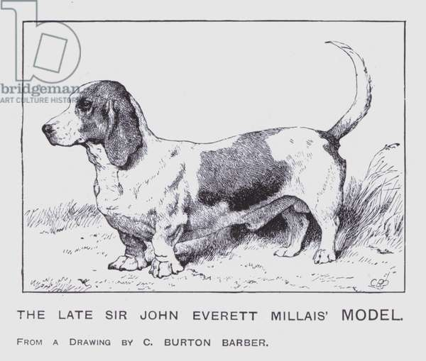 The Late Sir John Everett Millais' Model (colour litho)