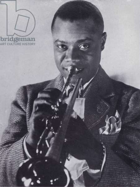 Louis Armstrong (b/w photo)
