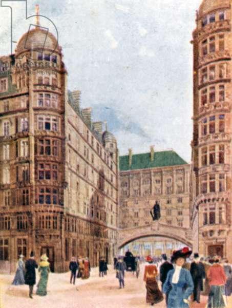 Savoy Hotel, London (colour litho)