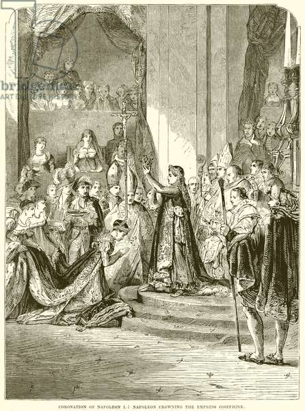 Coronation of Napoleon I: Napoleon Crowning the Empress Josephine (engraving)