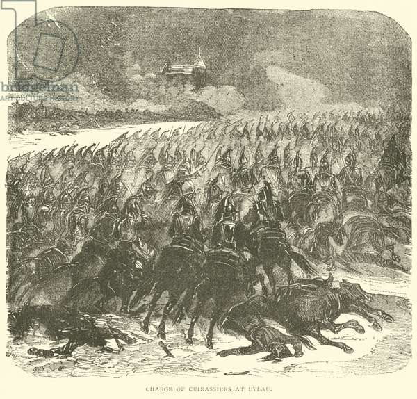 Charge of Cuirassiers at Eylau (engraving)