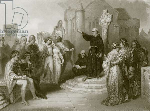 A dominican friar preaching a crusade