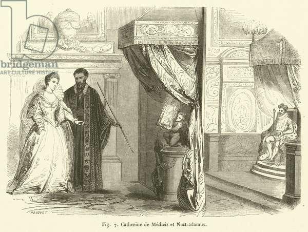 Catherine de Medicis et Nostradamus (engraving)