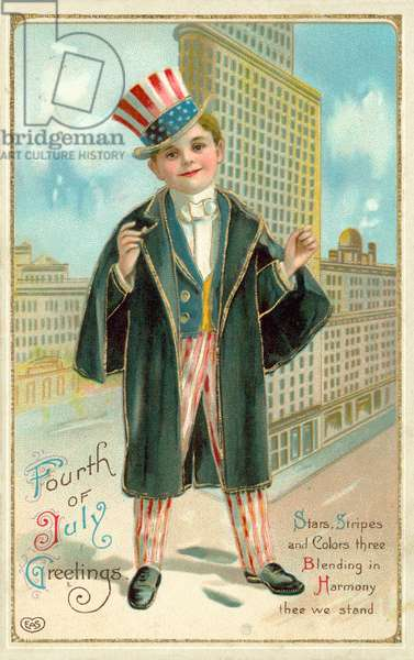 Fourth Of July Greetings (colour litho)