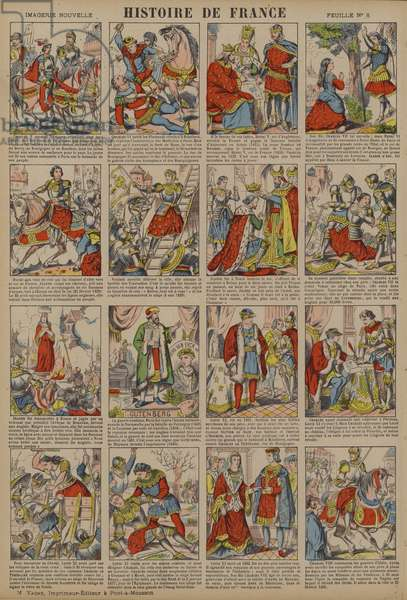 History of France from the death of Charles V to the reign of Charles VIII (colour litho)