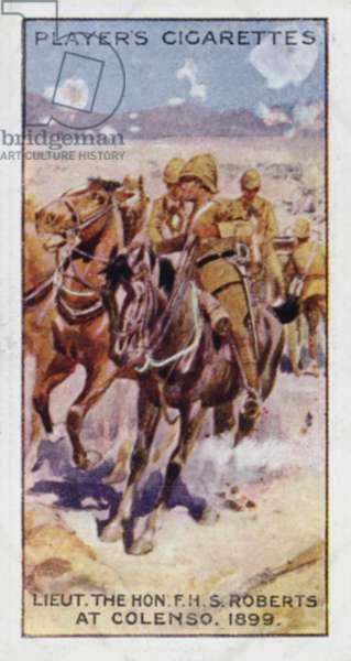 Victoria Cross: Lieut the Hon F H S Roberts, at Colenso, 1899 (colour litho)