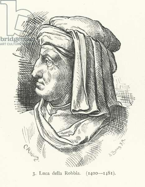 Luca della Robbia, Italian Renaissance sculptor (engraving)