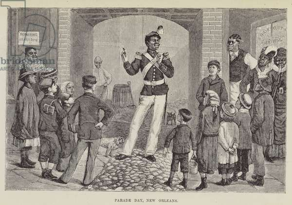 Parade Day, New Orleans (engraving)