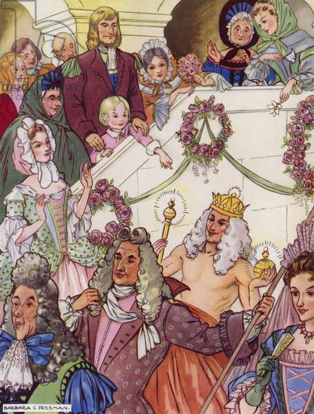 Hans Christian Andersen story: The Emperor's New Clothes (colour litho)