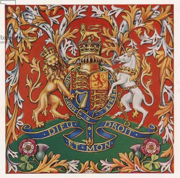 Royal crest (colour litho)