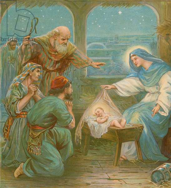 Nativity scene (chromolitho)