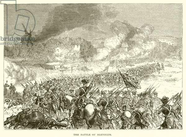 The battle of Blenheim (engraving)