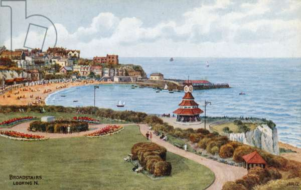 Broadstairs, looking N (colour litho)