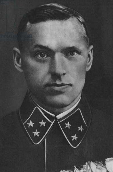 Marshal Rokossovsky, Commander 2nd Byelorussian Front (b/w photo)