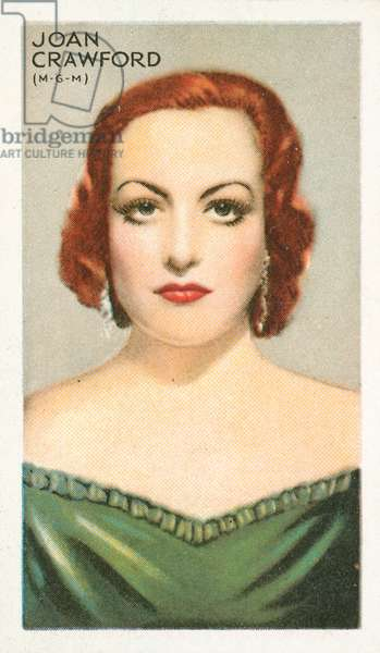 Joan Crawford (colour litho)