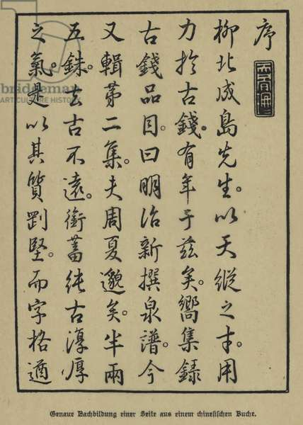 Exact copy of a page from a Chinese book (litho)