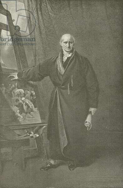 Benjamin West, President of the Royal Academy (engraving)