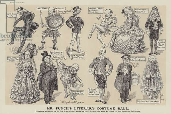Mr Punch's Literary Costume Ball (engraving)