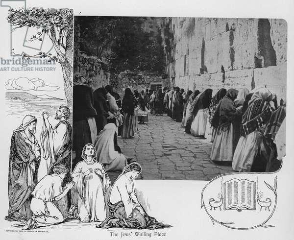 Jerusalem: The Jews' Wailing Place (litho)