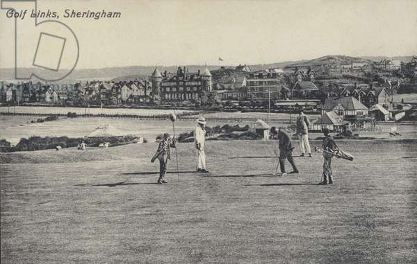 Golf links, Sheringham, Norfolk (b/w photo)