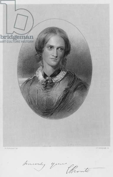 Portrait of Charlotte Bronte (engraving)