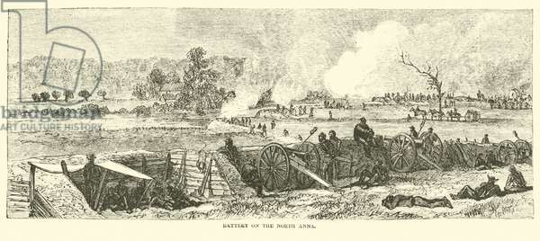 Battery on the North Anna, May 1864 (engraving)