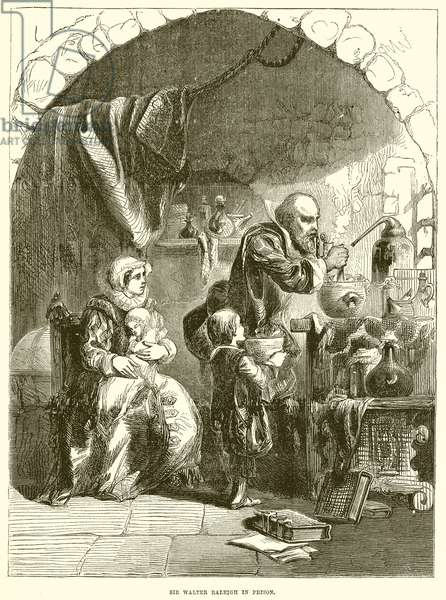 Sir Walter Raleigh in Prison (engraving)