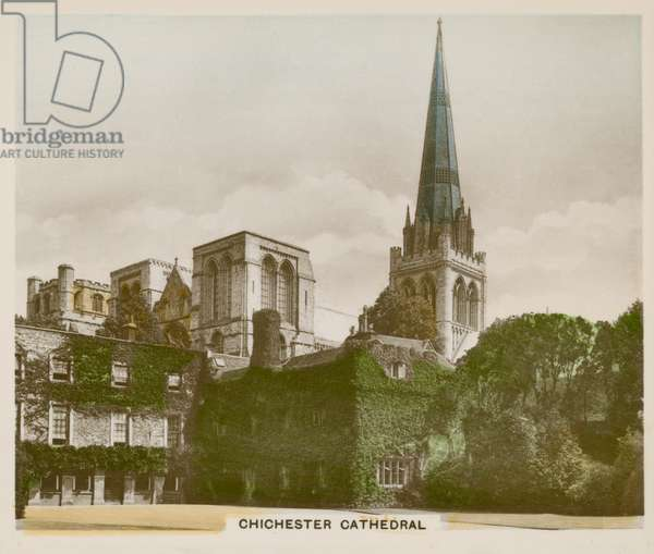 Chichester Cathedral (coloured photo)