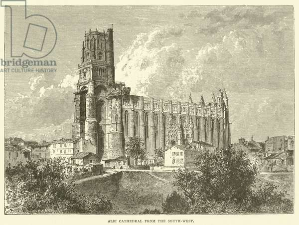Albi Cathedral from the South-West (engraving)