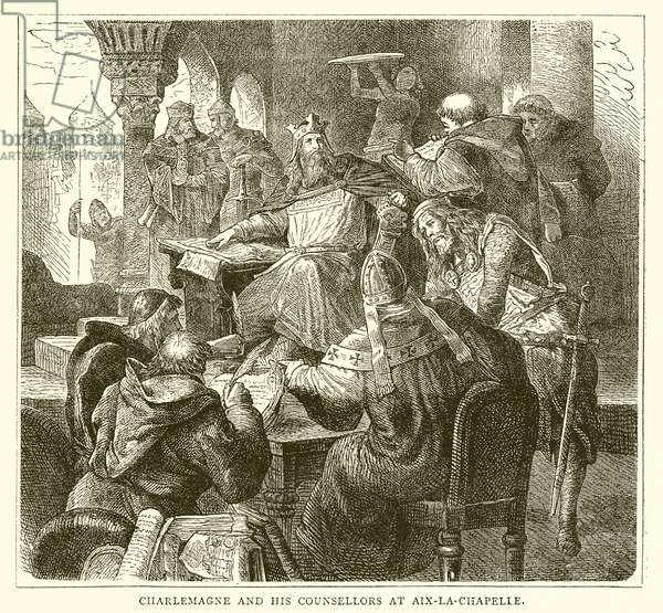 Charlemagne and his Counsellors at Aix-la-Chapelle (engraving)