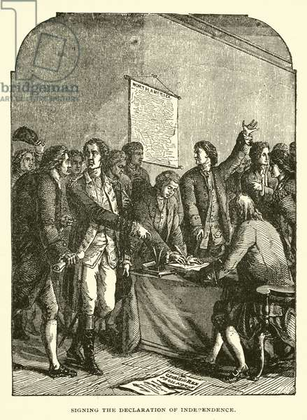 Signing the Declaration of Independence (engraving)