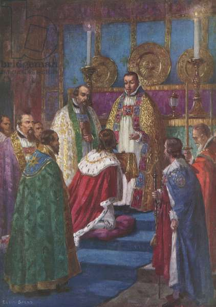 First Oblation, King Charles I (colour litho)