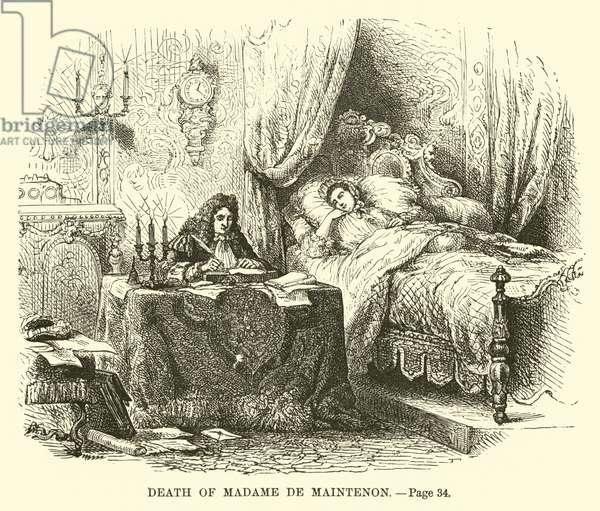Death of Madame de Maintenon (engraving)