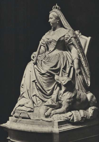 Queen Victoria, from the Statue by J E Boehm (b/w photo)