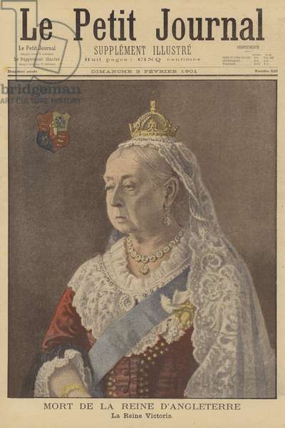 The death of Queen Victoria (colour litho)