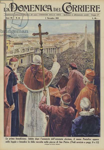 La prima benedizione (colour litho)