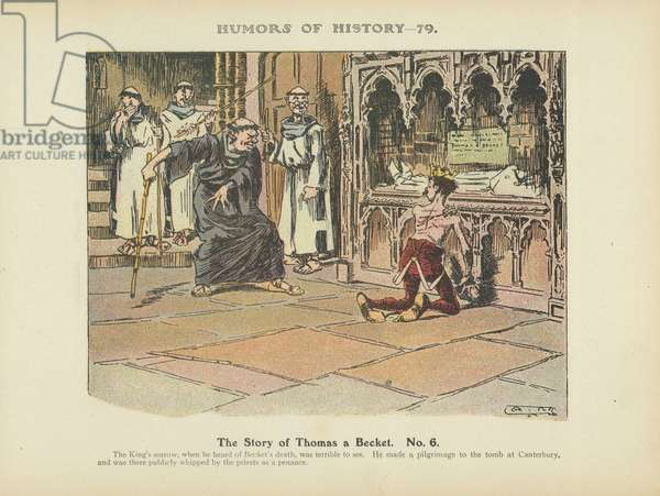 The Story of Thomas a Becket. No. 6 (colour litho)