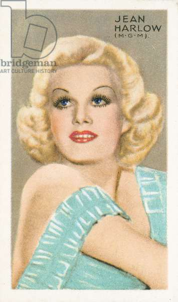Jean Harlow (colour litho)
