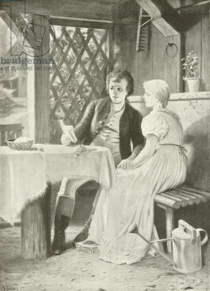 Goethe and Frederike (gravure)