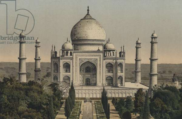 Taj Mahal, Agra, India (colour litho)