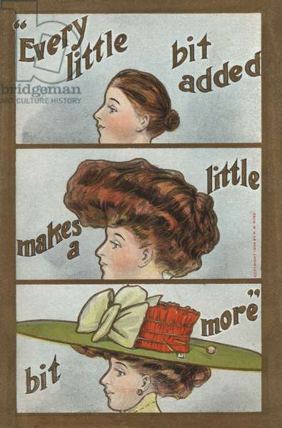 The stages of hairdressing (colour litho)