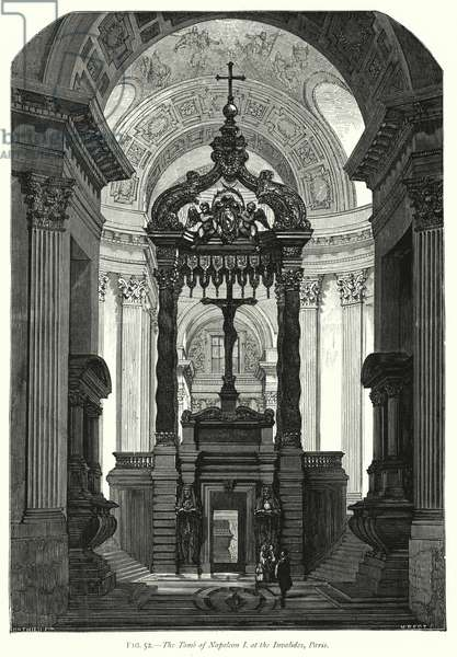 The Tomb of Napoleon I at the Invalides, Paris (engraving)