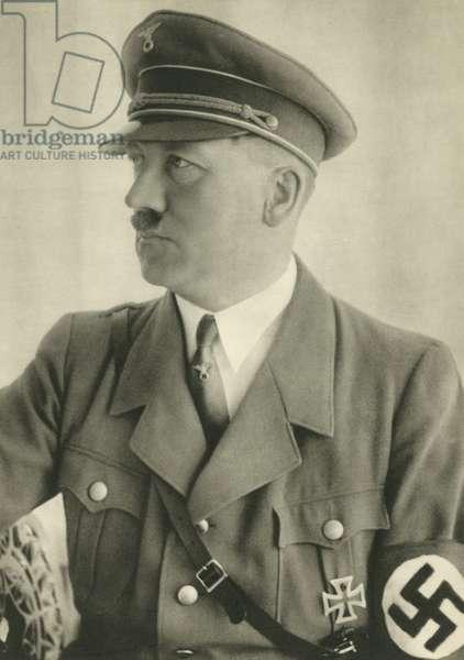Adolf Hitler, leader of Nazi Germany (b/w photo)
