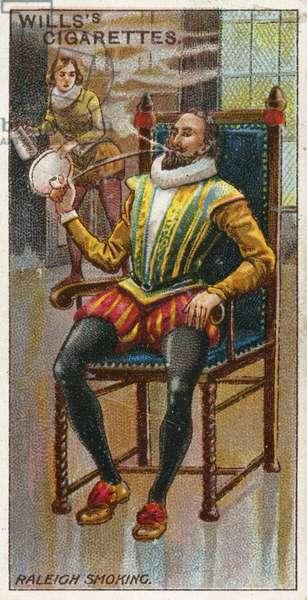 Sir Walter Raleigh smoking