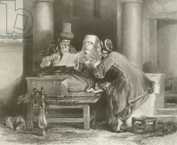 The Turkish Letter Writer (engraving)