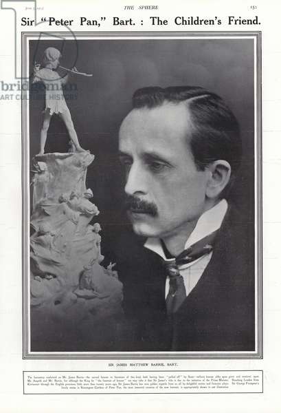 J M Barrie, Scottish author (b/w photo)