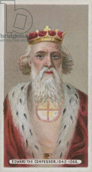 King Edward Confessor (chromolitho)